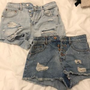 two ripped shorts
